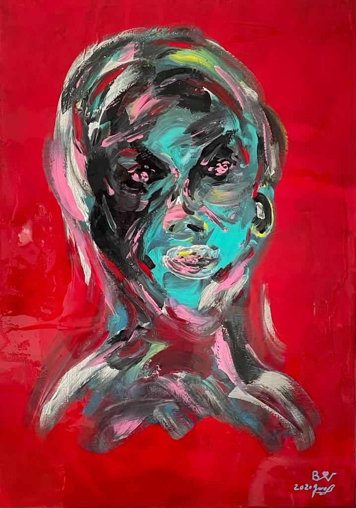 "Biggi Vinci, ""Inspiration"", 50x70, Acryl auf Leinwand, 2020"