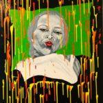 "Biggi Vinci, ""Kiss2, 80x100, Acryl auf Leinwand, 2021"