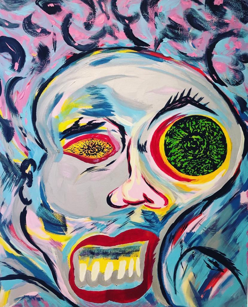 "Biggi Vinci, ""Selfmademan"" 80x100, Acryl auf Leinwand, 2020"