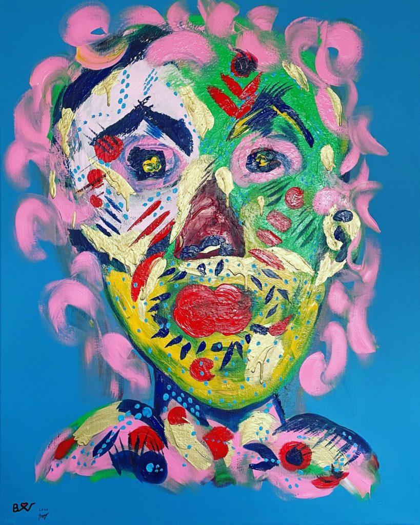 Biggi Vinci, No Name, 80x100, Acryl auf Leinwand, 2021