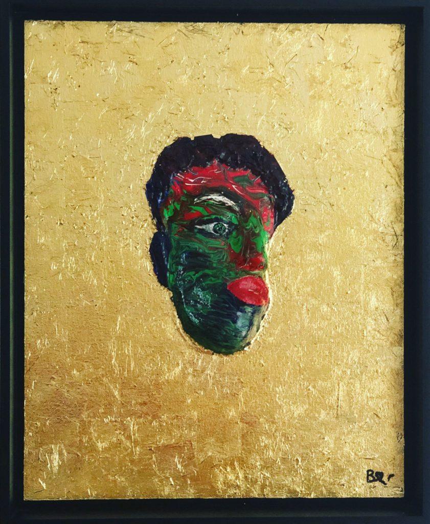 Biggi Vinci, Voodoo #2, 44x54, Acryl und Blattgold auf Malplatte, 2020